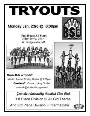 Cheerleading Tryout Flyer