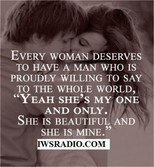 Women Deserve a Real Man!