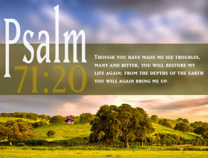 Psalm 71:20 Scripture Spring Landscape HD Wallpaper background for ...