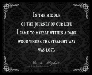 In the middle of the journey of our life I came to myself within a ...