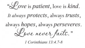 Quotes From The Bible About Love Corinthians ~ Love Bible Quote ...