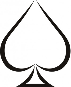 Plain Ace of Spades Wall Stickers Sports And Hobbies Wall Art Decal ...