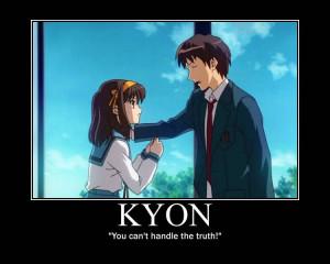 haruhi suzumiya and kyon relationship quotes