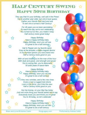 ... celebrate a man s 50th birthday half century swing happy 50th birthday