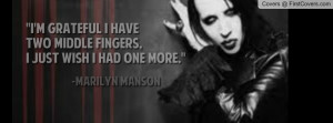 Marilyn Manson Quote Profile Facebook Covers