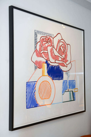 Over sized Tom Wesselmann Still Life 20th Century Scribble of Life