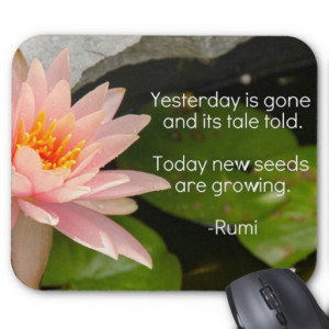 Lotus Flower & Rumi quote Mousepad