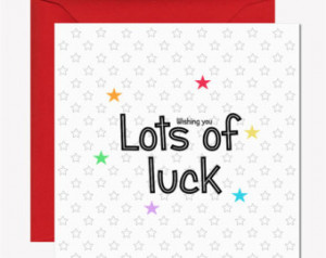 ... luck card. Modern, quirky good luck card. New job card, good luck card