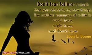dont fear failure