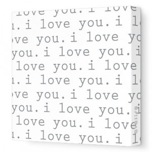 Avalisa Stretched Canvas Nursery Wall Art, Love, Green, 28