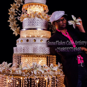 Nigerian-wedding-top-wedding-cake-baker-Snow-Flakes-Cake-Artistry-Port ...
