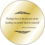 Solid Brass Pocket Compass: Saint Exupery Quote