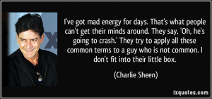 ve got mad energy for days. That's what people can't get their minds ...
