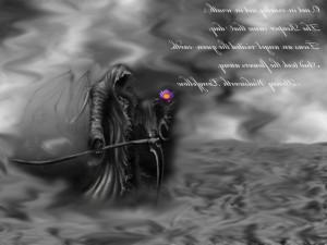 Reaper black quote flower dark death grey