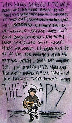 lyrics all time low Therapy