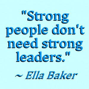 Ella Baker quote