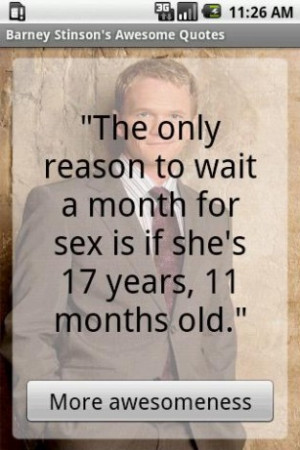 View bigger - Barney Stinsons Awesome Quotes for Android screenshot