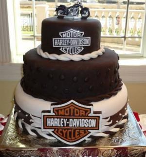 Harley Davidson @Brit Morin JoHarley Davidson, Cake Design, Grooms ...