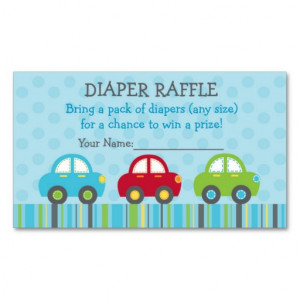 car_transportation_diaper_raffle_tickets_business_card ...