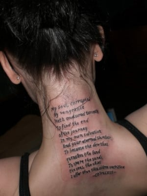 This entry was tagged Quotes Tattoo for Women . Bookmark the permalink ...