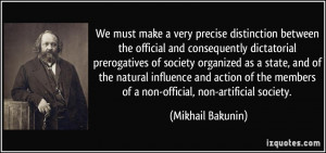 We must make a very precise distinction between the official and ...