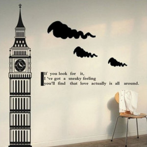 Big Ben Tower of London Clock Tower- Say Quote Word Lettering Art ...