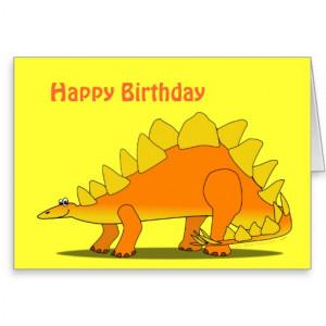 Happy Birthday to You Blue Cartoon Dinosaur Greeting Cards