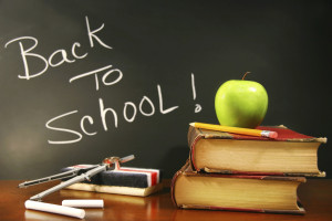 ... the kids back to school or B) Relieved the kids are back at school