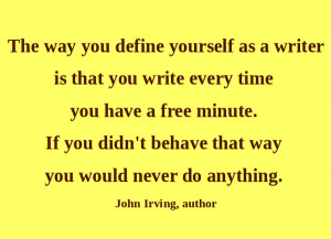 Artful Quote: John Irving - Day 196