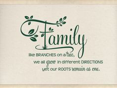 Family Wall Quotes. Family Like Branches CODE Vinyl Wall Quotes ...
