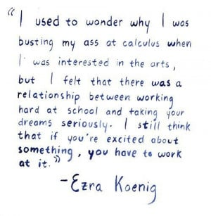 ezra koenig and his lovely quotes