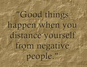 ... things happen when you distance yourself from negative people. #quotes