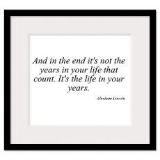 Abraham Lincoln quote 8 Wall Art Framed Print