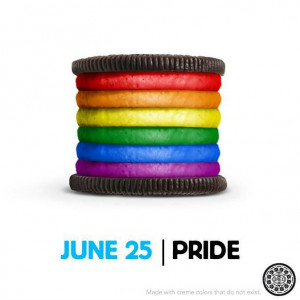 Oreo tweeted this image for gay pride day in 2012.