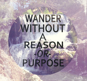 ... without a reason or purpose #hiking #travels #world #outdoors #quotes