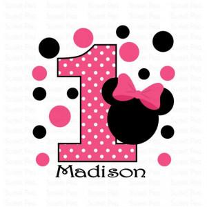 Printable Minnie Mouse Birthday Iron On ...   Minnie Mouse Party Ideas