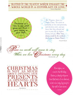 ... holiday quotes ready to be printed and adhered to your holiday pages