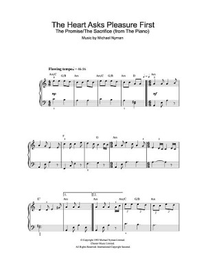 The Heart Asks Pleasure First By Michael Nyman Free Piano Sheet Music