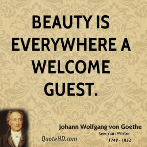 Johann Wolfgang von Goethe Beauty Quotes