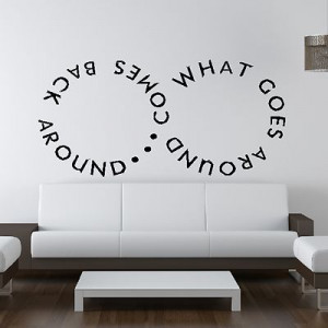 Infinity Karma Lies Quote Cheating 8 JT Wall Sticker Art Decoration ...
