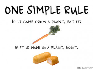 """This is rule #19 in Michael Pollan's book """" Food Rules: An Eater ..."""