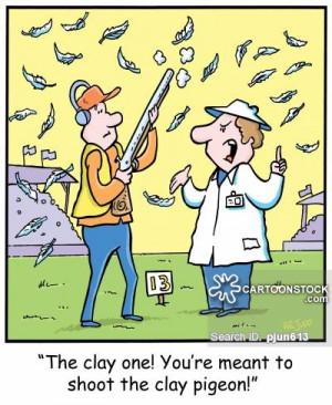Clay Pigeon Shooting cartoons, Clay Pigeon Shooting cartoon, funny ...