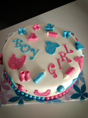 gender reveal taart met ooievaar gender reveal taart en cupcakes