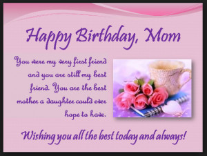 Heart Touching 107 Happy Birthday MOM Quotes from Daughter & Son - To ...