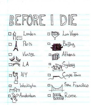 Life Bucket List Tumblr