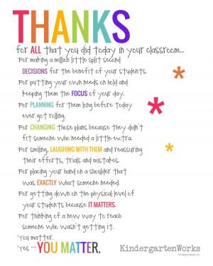 Teacher Appreciation Poem Prints Free Download