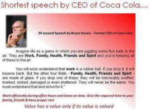 Coca cola CEO Bryan Dyson Motivational Speech