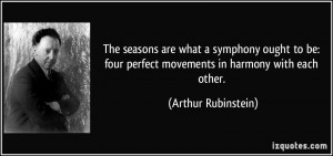 The seasons are what a symphony ought to be: four perfect movements in ...