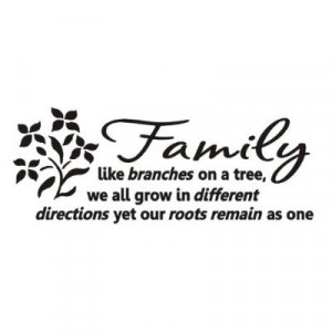Family like branches on a tree Wall art decals vinyl love letters ...