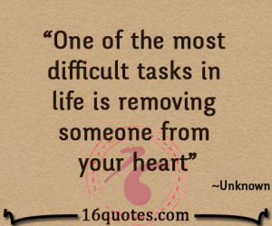 removing someone from your heart quote